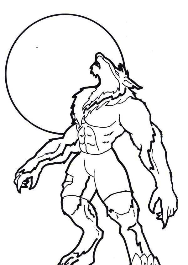 werewolf coloring pages cute coloring pages cartoon