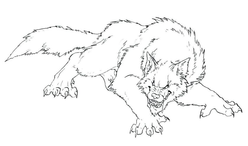 werewolf coloring pages werewolves how to draw a were wolf