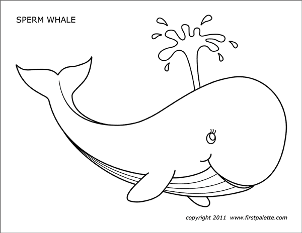whale free printable templates coloring pages