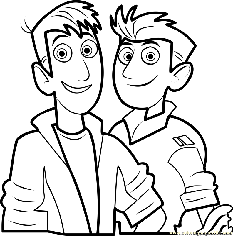 wild kratts coloring page free wild kratts coloring pages