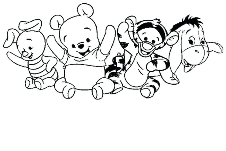 winnie the pooh christmas coloring pages at getdrawings