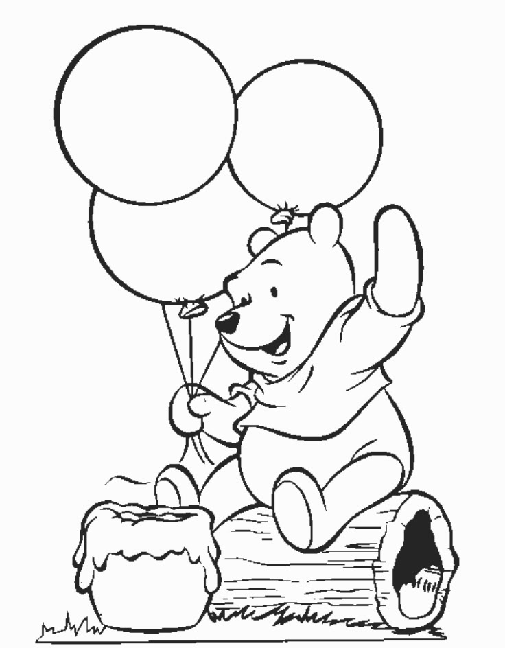 winnie the pooh coloring pages ba pooh printable coloring