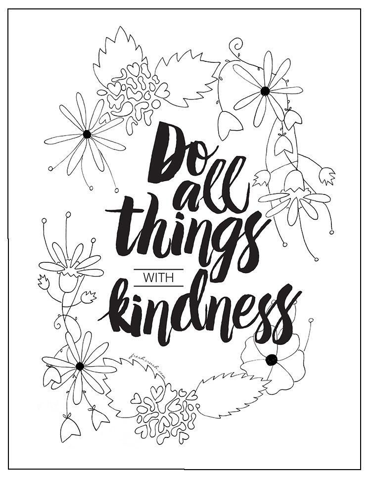 with kindness coloring page free adult coloring pages