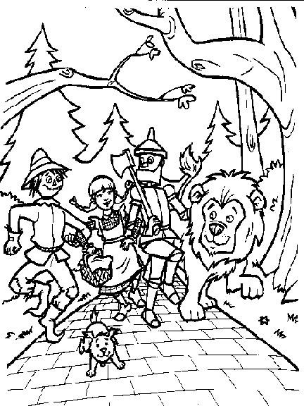 wizard of oz coloring pages to print zauberer von oz