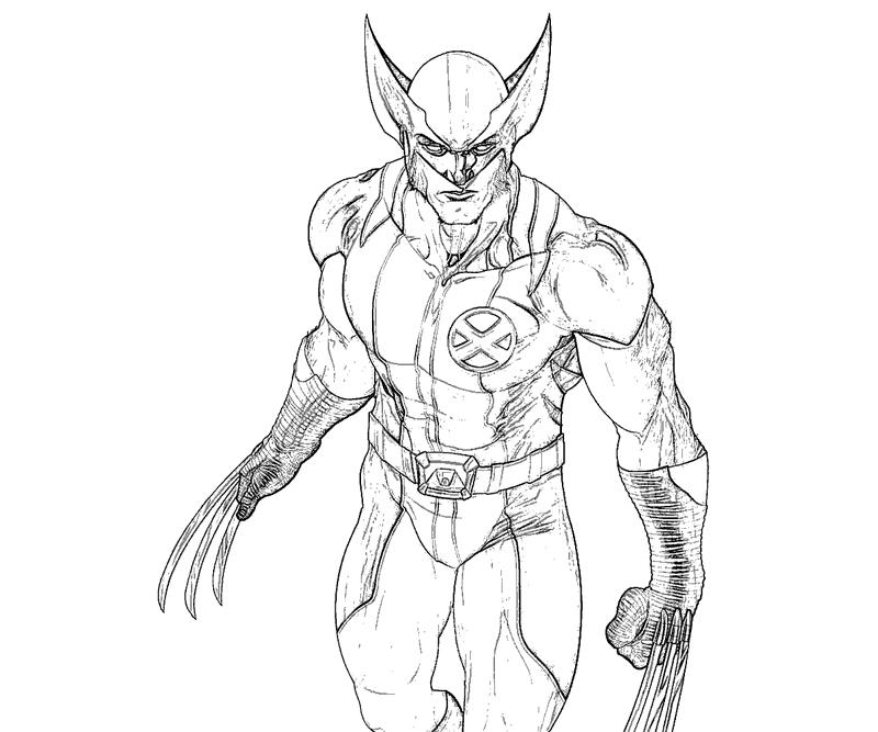 wolverine 37 superheroes printable coloring pages