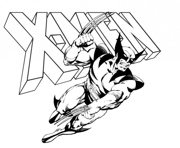 wolverine cartoon coloring pages at getdrawings free