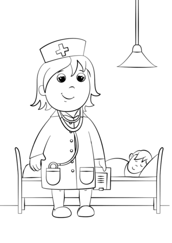 woman doctor coloring page free printable coloring pages