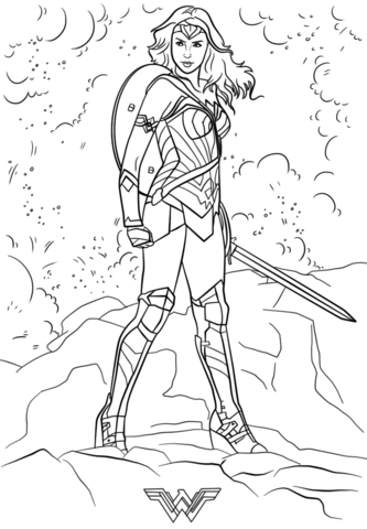wonder woman coloring page free printable coloring pages