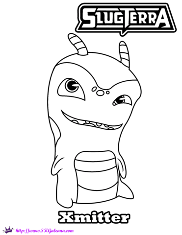 xmitter slugterra coloring page free printable coloring pages