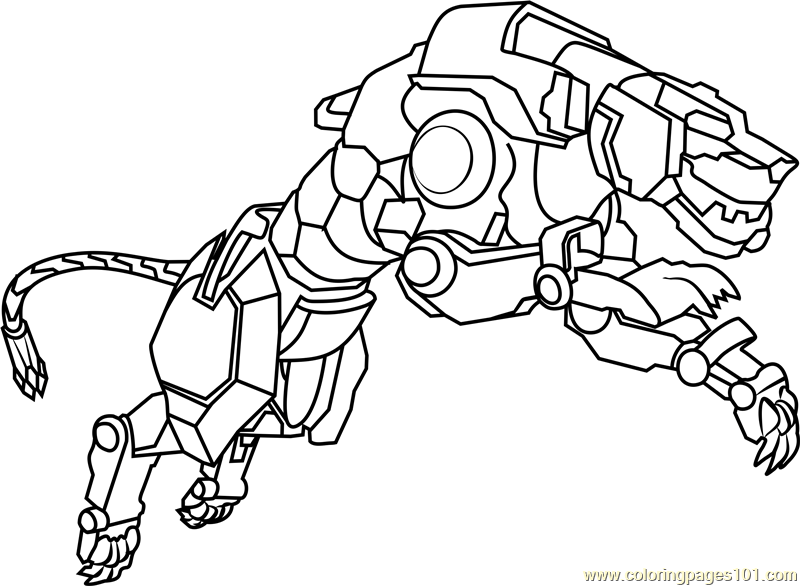 yellow lion coloring page free voltron legendary defender