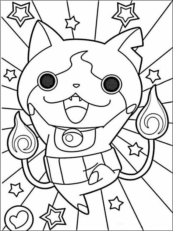 yo kai coloring pages to print pusat hobi