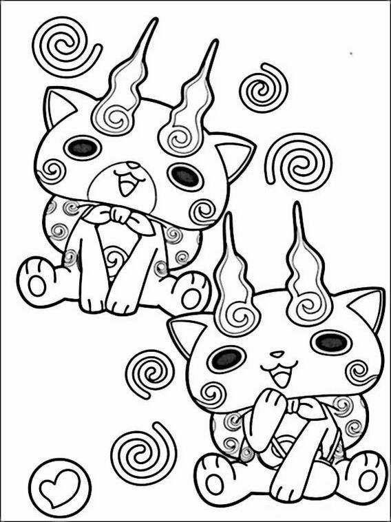 yo kai watch coloring pages 5 coloring books coloring
