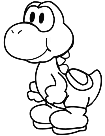 yoshi coloring page free printable coloring pages