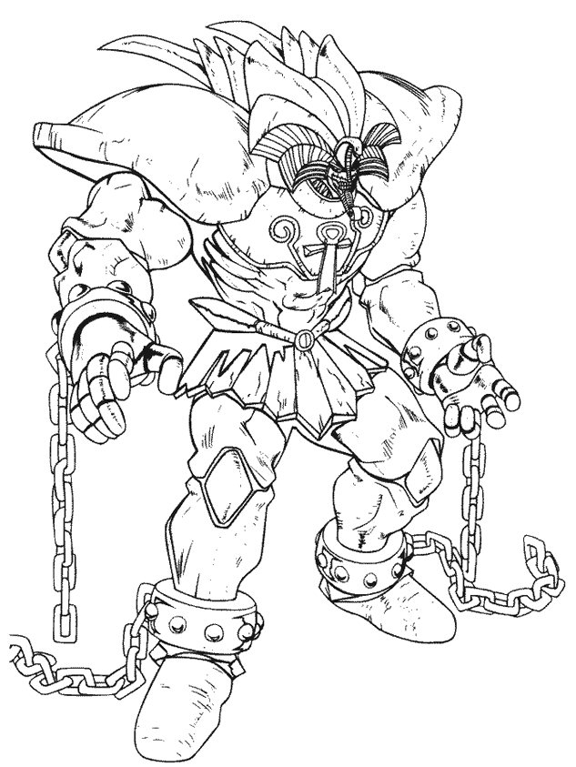 yu gi oh coloring pages 1
