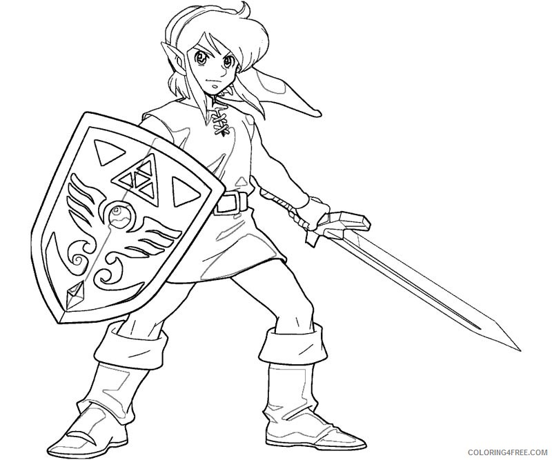 zelda coloring pages for boys coloring4free coloring4free