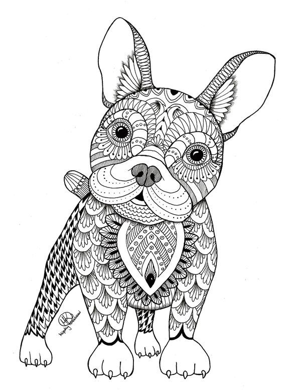 zentangle dogs buscar con google dog coloring page