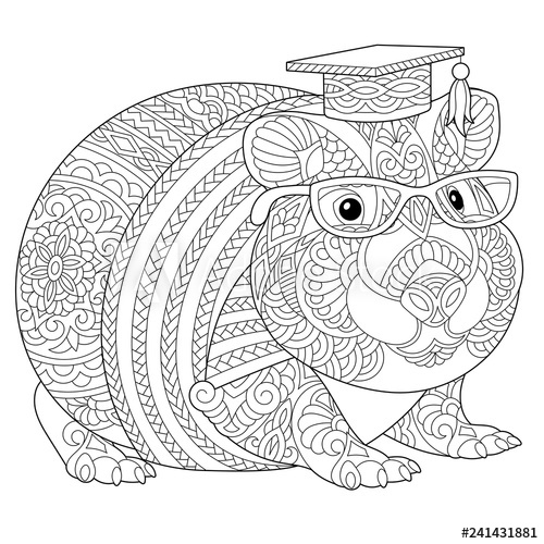zentangle guinea pig coloring page kaufen sie diese