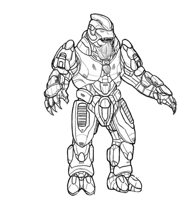 free printable halo coloring pages for kids