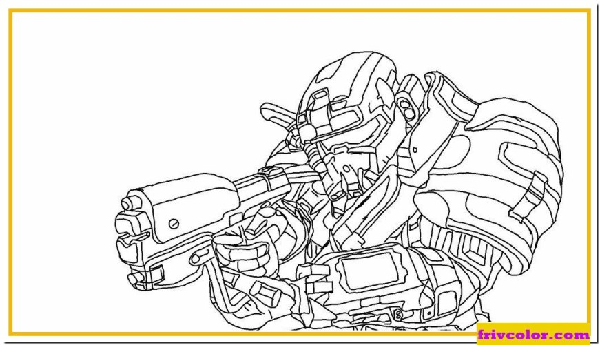 halo reach spartan friv free coloring pages for children