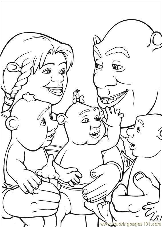 shrek coloring pages free printable coloring page shrek 3