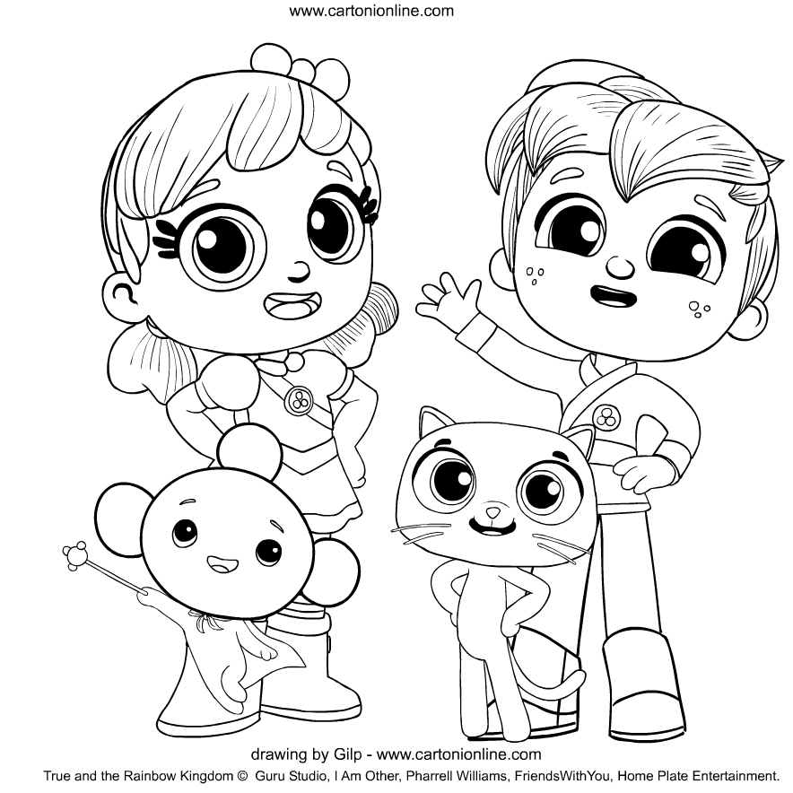 true and the rainbow kingdom coloring page