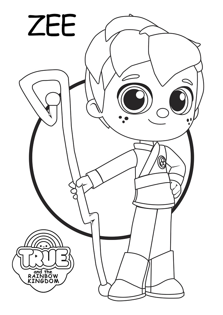 zee from true and the rainbow kingdom coloring page free