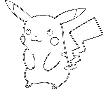 2 pikachu coloring page