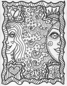 41 best hippie coloring pages images coloring pages