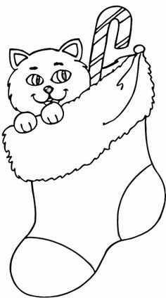 96 best stocking coloring page printable images coloring