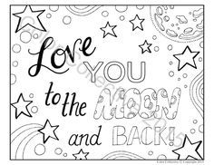 adult coloring page digital download love you to the