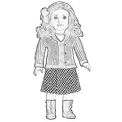 American Girl Coloring Pages Pictures - Whitesbelfast.com