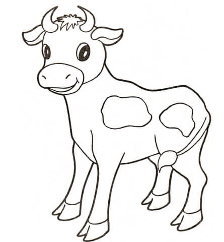 ba cow coloring page cow coloring pages animal