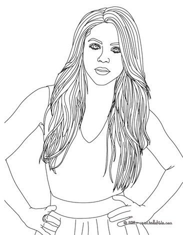 beautiful shakira coloring page more shakira coloring