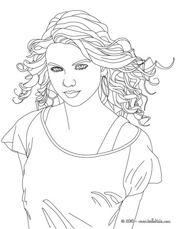 beautiful taylor swift close up coloring pages hellokids