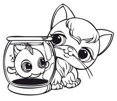coloriage dessins littlest pet shop 1 dessin