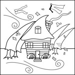 coloring page of a hurricane and tornado coloring page
