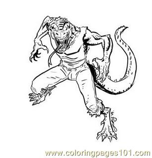 coloring pages lizard11 reptile lizard free