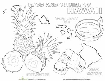 cuisine of hawaii coloring pages mandala coloring pages