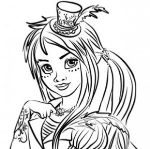 descendants 2 uma coloring pages at getcolorings