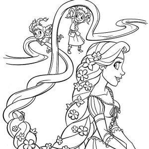 disney flynn maximus and rapunzel coloring page kids