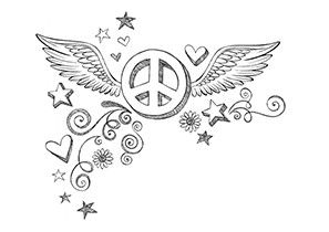 dove centered peace symbol coloring page free adult
