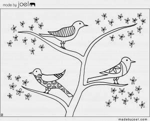 early play templates beautiful birds colouring sheets