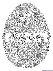 easter egg coloring pages projects to try mandala