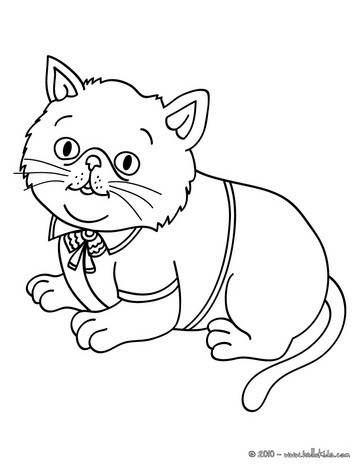 elegant cat coloring pages hellokids