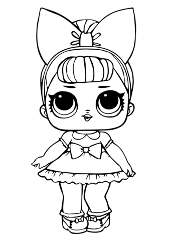 fancy glitter lol surprise doll coloring page free