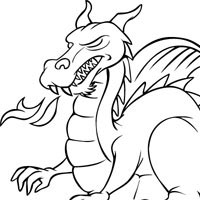 fierce dragon coloring pages surfnetkids