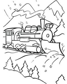 free coloring pages pictures polar train express polar