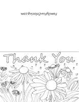 free coloring pages printable coloring thank you cards