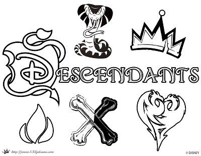 free disney descendants coloring pages descendants