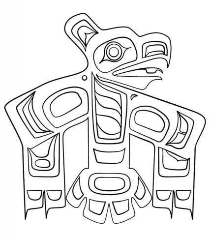 haida art raven coloring page free printable coloring